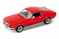 1/24 VOITURE MINIATURE DE COLLECTION Ford Mustang GT rouge-1967-WELLY