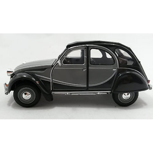 1 24 voiture miniature de collection citroen 2cv charleston gris 2 tons welly vente de. Black Bedroom Furniture Sets. Home Design Ideas