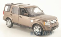 1/24 VEHICULE MINIATURE DE COLLECTION 4X4 Land Rover Discovery 4 brun métallisé-WELLY
