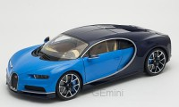 1/18 VOITURE MINIATURE DE COLLECTION Bugatti Chiron bleu - version Luxe-WELLYWEL11010BLU