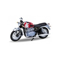 1/18 MOTO MINIATURE DE COLLECTION TRIUMPH BONNEVILLE T100 2002-WELLY12172