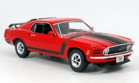 1/18 VOITURE MINIATURE DE COLLECTION Ford Mustang Boss rouge-1970-WELLYWEL18002RED