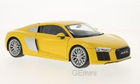 1/18 VOITURE MINIATURE DE COLLECTION AUDI R8 V10 jaune-2016-WELLY