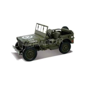 "1/18 JEEP WILLYS VEHICULES FORCES DE L'ORDRE MILITAIRE JEEP WILLYS ""US ARMY"" 1944 OUVERTE-WELLY18055C"