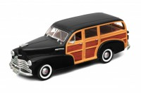 1/18 Monospace et Break VEHICULE MINIATURE DE COLLECTION Chevrolet Fleetmaster noir-1948-WELLYWEL19848BLK