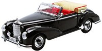 1/18 VOITURE MINIATURE DE COLLECTION CABRIOLET Mercedes 300 S cabriolet noir-1966-WELLYWEL19859BLK