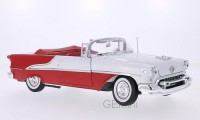 1/18 VOITURE MINIATURE DE COLLECTION Oldsmobile Super 88 cabriolet rouge/blanc-WELLYWEL19869RT