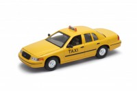 1/24 FORD TAXI VOITURE MINIATURE DE COLLECTION Ford Crown Victoria Taxi New York-1999-WELLYWEL22082T
