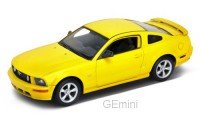 1/24 VOITURE MINIATURE DE COLLECTION Ford Mustang GT Jaune-2005-WELLYWEL22464YEL