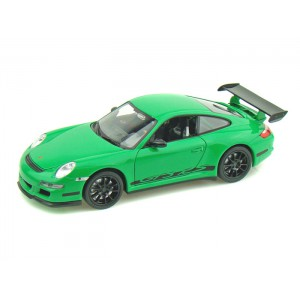 1/24 PORSCHE VOITURE MINIATURE DE COLLECTION Porsche 911 GT3 RS vert-WELLYWEL22495GRN
