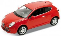 1/24 VOITURE MINIATURE DE COLLECTION Alfa Romeo MITo rouge-WELLYWEL22505MRT