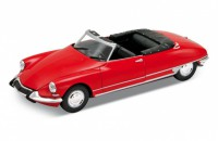 1/24 VOITURE MINIATURE DE COLLECTION Citroen DS 19 Cabriolet rouge-WELLYWEL22506CRED