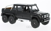 1/18 VEHICULE MINIATURE DE COLLECTION 4X4 Mercedes G 63 AMG 6X6, Noire-2015-WELLYWEL24061BLACK