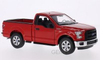 1/24 VEHICULE MINIATURE DE COLLECTION Ford F150 rouge-2015-WELLY