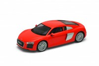 1/24 VOITURE MINIATURE DE COLLECTION AUDI R8 V10 rouge-2016-WELLYWEL24065RED