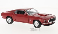 1/24 VOITURE MINIATURE DE COLLECTION Ford Mustang Boss 429 rouge-1969-WELLYWEL24067RED