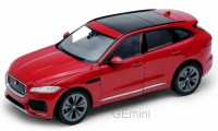 1/24 VOITURE MINIATURE DE COLLECTION 4X4 Jaguar F-Pace rouge-2016-WELLYWEL24070red