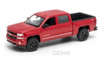 1/24 CHEVROLET VEHICULES UTILITAIRES MINIATURE DE COLLECTION Chevrolet Silverado rouge-WELLYWEL24083RED