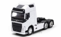 1/32 CAMION MINIATURE DE COLLECTION TRACTEUR VOLVO FH (6X4)BLANC WELLY WEL32690L-WHI