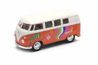 1/32 VW VEHICULES MINIATURE DE COLLECTION Volkswagen T1 Peace and Love-WELLYWEL49764A1WO