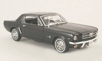 1/18 VOITURE MINIATURE DE COLLECTION Ford Mustang hard top noir-1964-WELLYWEL12519HBLK