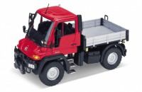 1/24 CAMION MINIATURE DE COLLECTION Mercedes Unimog U400 rouge-WELLYWEL22098RED