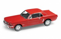 1/24 VOITURE MINIATURE DE COLLECTION Ford Mustang rouge-1964-WELLYWEL22451RT