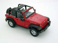 1/24 VOITURE MINIATURE DE COLLECTION 4X4 Jeep Wrangler cabriolet rouge-2007-WELLYWEL22489CRED