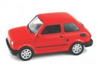 1/24 VOITURE MINIATURE DE COLLECTION Fiat 126 rouge-WELLYWEL24066RED