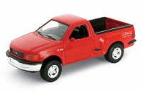 1/24 VEHICULE MINIATURE DE COLLECTION 4X4 Ford F150 Styleside rouge-1999-WELLYWEL29391WRED