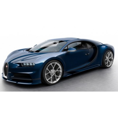 1 18 voiture miniature de collection bugatti chiron bleu carbonne 2016 mr vente de voitures. Black Bedroom Furniture Sets. Home Design Ideas