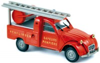 1/43 citroen 2cv pick-up sapeurs pompiers 1963