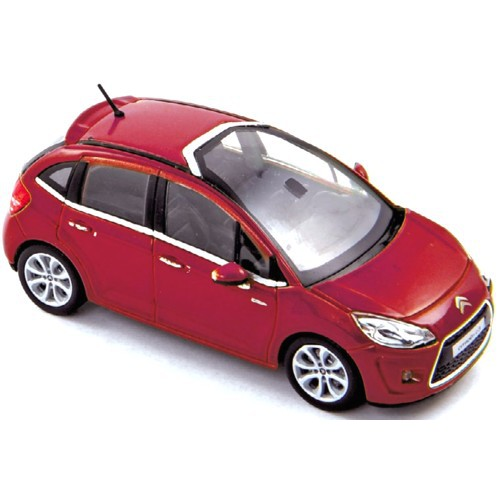 1 43 voiture citroen c3 rouge 2009 norev vente de voitures miniatures pour collectionneurs. Black Bedroom Furniture Sets. Home Design Ideas