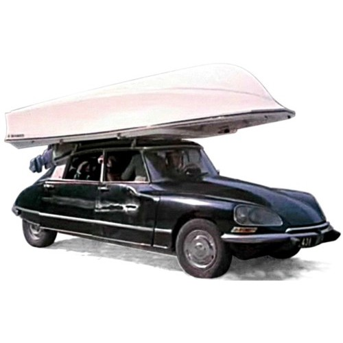 1 43 citroen ds 21 pallas noir avec bateau sur le toit. Black Bedroom Furniture Sets. Home Design Ideas