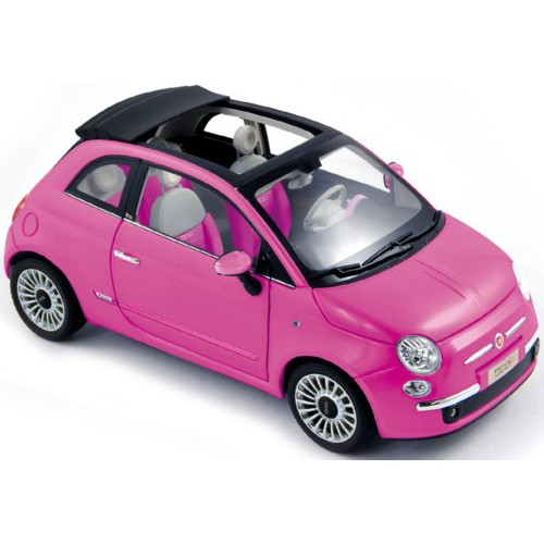 1 18 fiat 500 c rose toit ouvrant 2010 norev vente de voitures miniatures pour collectionneurs. Black Bedroom Furniture Sets. Home Design Ideas
