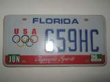 Plaque americaines en tole florida u.s.a olympic
