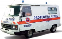 1/87 ho peugeot j9 protection civile -1987-norev