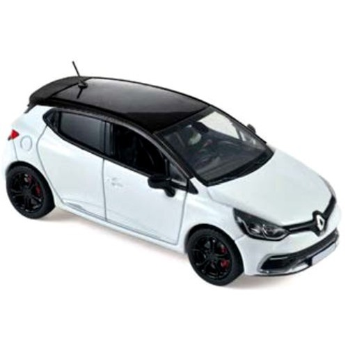 1 43 renault clio rs gp monaco 14 blanc et noir norev vente de voitures miniatures pour. Black Bedroom Furniture Sets. Home Design Ideas