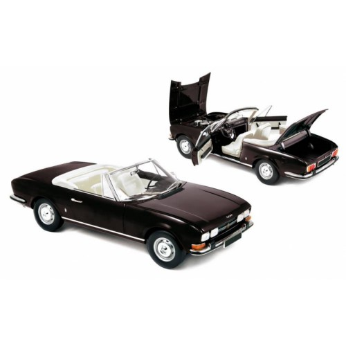 1 18 voiture miniature de collection peugeot 504 cabriolet noir 1971 norev vente de voitures. Black Bedroom Furniture Sets. Home Design Ideas
