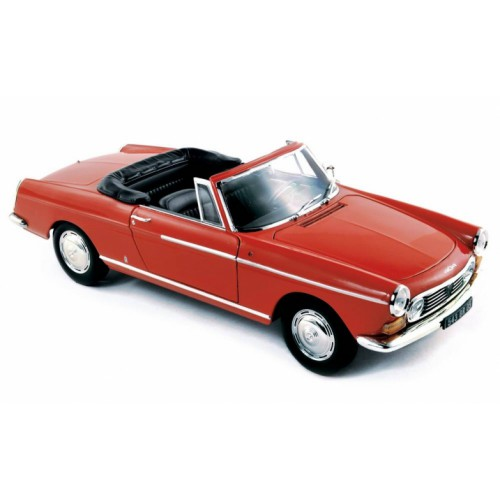 1 18 voiture miniature peugeot 404 cabriolet rouge 1967 norev vente de voitures miniatures. Black Bedroom Furniture Sets. Home Design Ideas