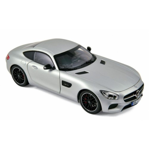 1 18 voiture miniature de collection mercedes amg gt argent 2015 norev vente de voitures. Black Bedroom Furniture Sets. Home Design Ideas