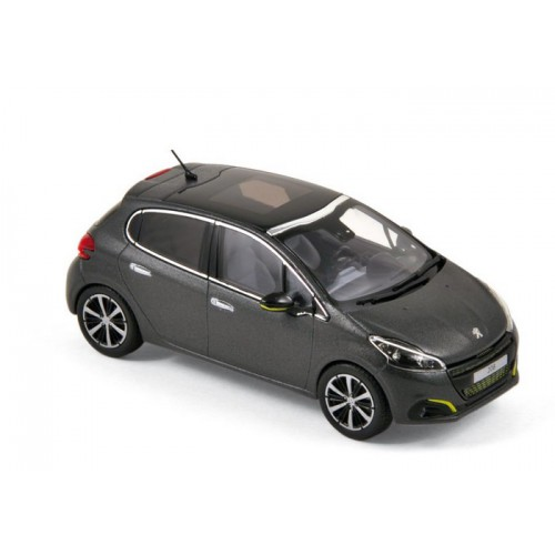 1 43 voiture miniature peugeot 208 gris fonc mat 2015 norev vente de voitures miniatures pour. Black Bedroom Furniture Sets. Home Design Ideas