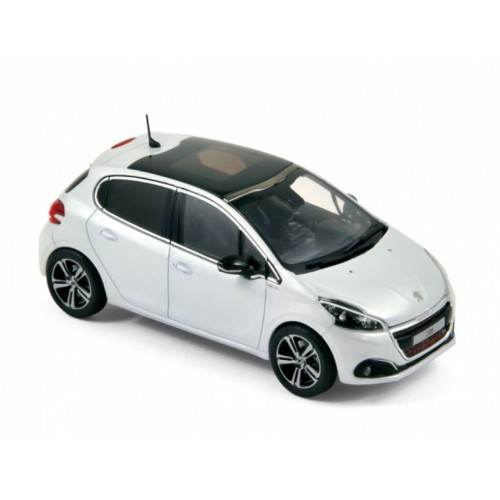 1 43 voiture miniature peugeot 208 gt line blanc nacr 2015 norev vente de voitures miniatures. Black Bedroom Furniture Sets. Home Design Ideas