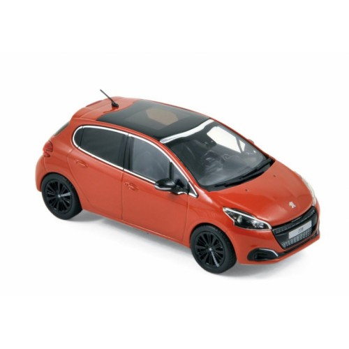1 43 voiture miniature de collection peugeot 208 orange 2015 norev vente de voitures. Black Bedroom Furniture Sets. Home Design Ideas