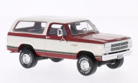 1/43 VOITURE MINIATURE Dodge Ram Charger rouge/blanc-1979-NEO