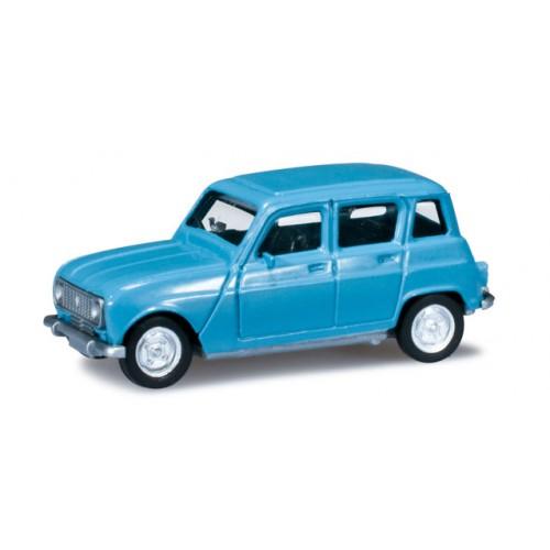 1 87 ho voiture miniature de collection renault 4l bleu. Black Bedroom Furniture Sets. Home Design Ideas