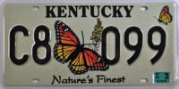 Plaque en tole publicitaire kentucky nature's