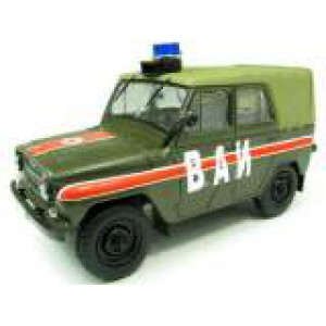 1/43 UAZ 469 MILITARY POLICE RUSSE-TYPE JEEP ARMY