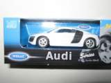 1/60 voiture audi r8 v10 blanche welly