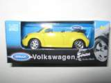 1/60 vw new beetle convertible jaune welly